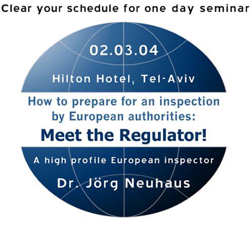 Meet the Regulator - 02.03.04 - European Inspector Dr. Jorg Neuhaus